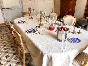 Chateau des Chauvaux table d'hôtes tafel dordogne kasteel hotel bed & breakfast frankrijk chambre blanche
