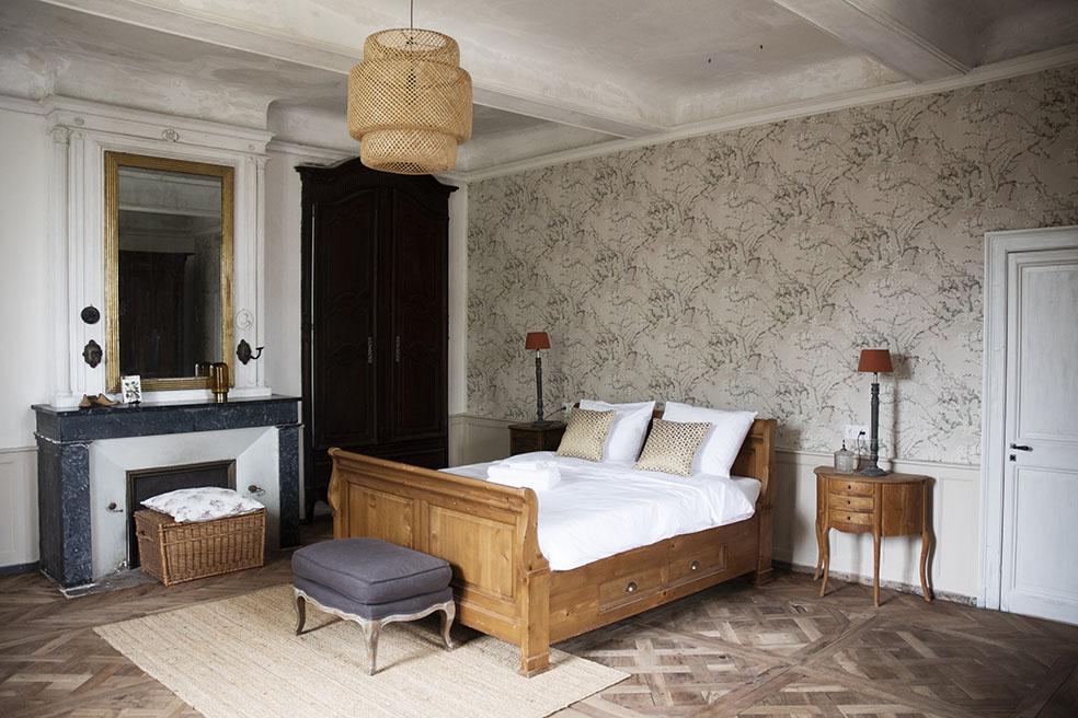 Chambre Sicarie Bed & Breakfast Chateau des Chauvaux Dordogne Chambres d'Hôtes kamer