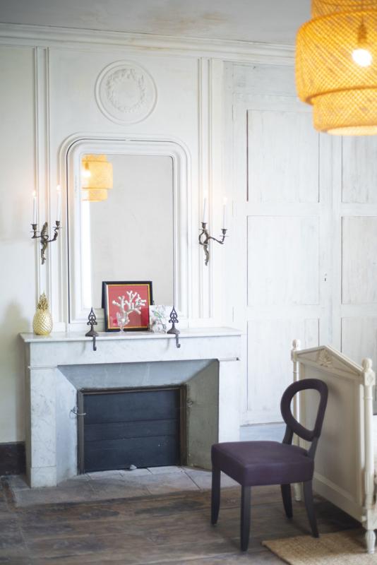 Badkamer Chambre Blanche open haard