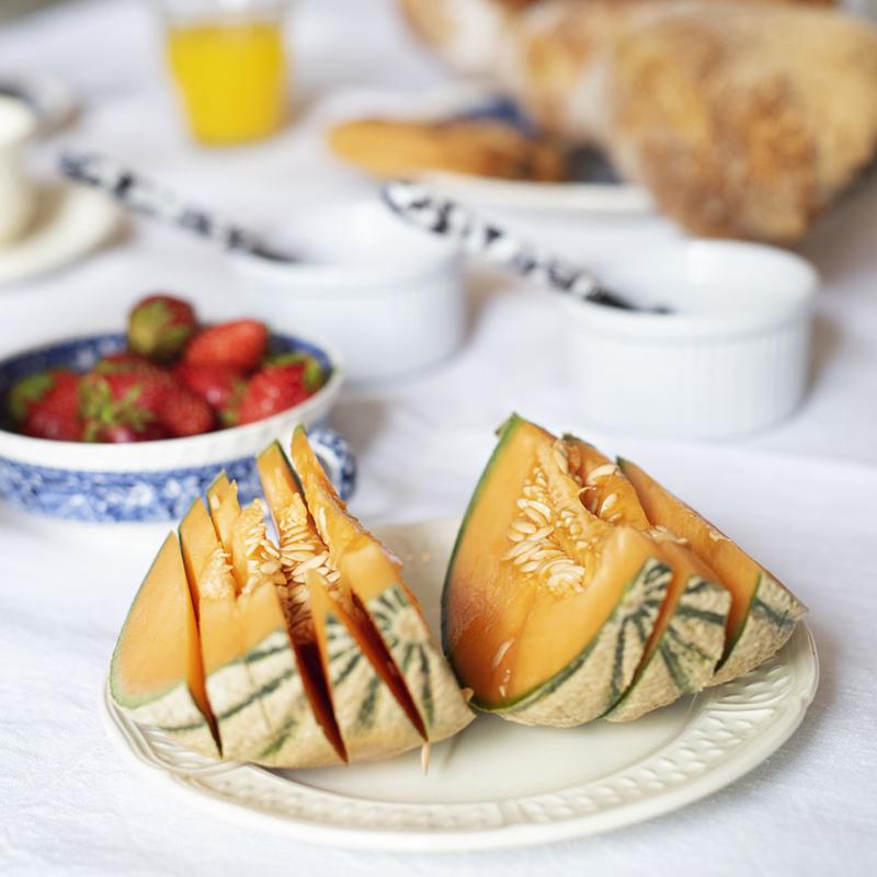Ontbijt Chateau des Chauvaux meloen